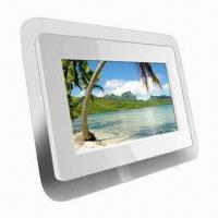 Buy cheap 7-inch White Digital Photo Frame with 12V DC Power Supply and 480 x 234p Resolution product