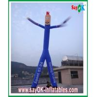 Buy cheap Blue Inflatable Air Dancer Rip-stop Nylon Cloth With Two Legs from wholesalers