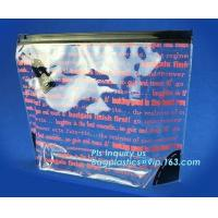 Buy cheap Slider ziplock bag with writable panel for easy label, reclosable slider plastic bags, snack plastic cosmetic slider pac from wholesalers