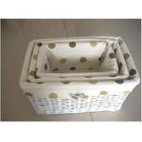 Buy cheap white willow  storage basket for sundries from wholesalers