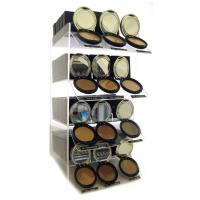 Buy cheap Transparent Rouge Acrylic Cosmetic Display Stand 4 Tier product