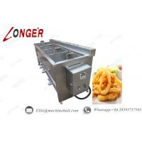 Buy cheap Semi Automatic Frying Machine|Commercial Coated Peanut Fryer|Chicken Fryer Machine|Large Product Fryer Machine from wholesalers