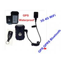Buy cheap Hands Free 4G Body Worn Camera Black , Police Uniform Camera FCC Approved from wholesalers