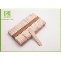 Buy cheap Large Ice Cream Popsicle Sticks , 75mm Jumbo Paddle Pop Sticks Non - Waxed from wholesalers