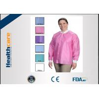 Buy cheap OEM Sterile Disposable Visitor Coats With Buttons , Disposable Hospital Scrubs  from wholesalers