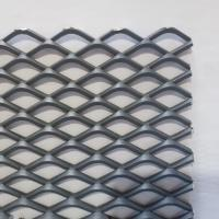 Buy cheap Hot Dip Galvanized Stainless Steel Expanded Metal Lath , Flat Expanded Metal Mesh from wholesalers