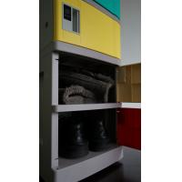 Buy cheap Corrosion Proof ABS Plastic Lockers Red Door 5 Tier Lockers With Clover Keyless Lock from wholesalers