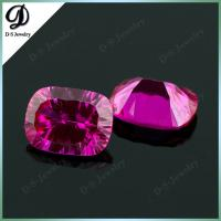 Buy cheap Synthetic Corundum Red Ruby Millennium Cut Gemstones from wholesalers