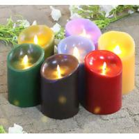 Buy cheap Colorful Real Wax Led Candle Motion Flame Battery Operated Candle from wholesalers