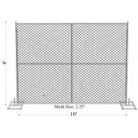 Buy cheap 4'x12ft US standard construction chain mesh fence tubing 1⅝(42mm) x 17ga/1.4mm thick aperture 2¼x2¼(57mmx57mm) from wholesalers