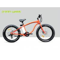 Buy cheap High Powered 48V 26 Inch Electric Beach Bike 750W Orange Aluminum Alloy 6061 from wholesalers