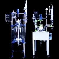 Buy cheap Organic Chemistry Vacuum Distillation Glass Pot Professional Pilot Stirring Crystallization Glass Reactor with Low Price from wholesalers