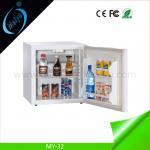 Buy cheap 32L glass door hotel minibar, wood door mini bar freezer from wholesalers