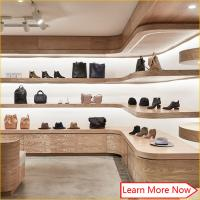 Buy cheap Customized wooden veneer furniture for shoe store,shoes shop interior design from wholesalers