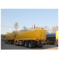 Buy cheap Flammable gasoline tank trailer , 4mm 5mm 6mm tank thickness liquid tank trailers Yellow color with warranty from wholesalers