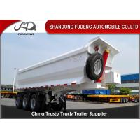 Buy cheap 3 Axle Dump Semi Trailers  , Hydraulic Cylinder Tipping / Tipper Trailer from wholesalers