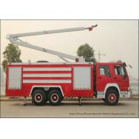 Buy cheap Sinotruck Howo 6x4 High Jet Tender Fire Truck With Water Tank 5500 L Jetting 18m from wholesalers