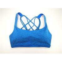 Buy cheap Strappy Women Active Bra Yoga Vest Polyester Y/D Blue Stripe Removable Pad from wholesalers
