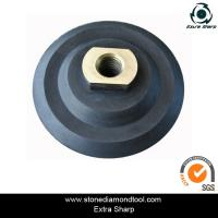 Buy cheap 80mm rubber flexible polishing backer pads for air grinder from wholesalers