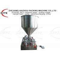 Buy cheap Horizontal Semi Automatic Paste Filling Machine Double Heads 100-1000ml from wholesalers