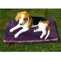 China Polyester Rectangle Pet Cushion Purple Waterproof Dog Bed Suede 1.3KG on sale