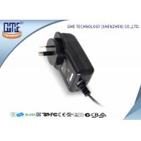 Buy cheap AC DC Wall Plug Adapter 12V 2A / Wall Mount Power Supply Black Color from wholesalers