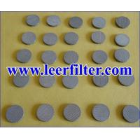 Buy cheap Sintered Circular Filter Disc from wholesalers