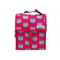 Buy cheap Red Folding Mini Kids Picnic Cooler Bag 1 x8 x8.25 Buckle Handle Clips from wholesalers