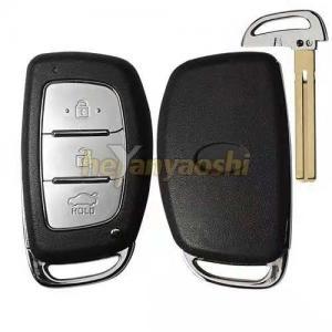 Buy cheap Silver Button Pad Hyundai Smart Key Shell Without Logo / Car Key Case Shell product
