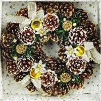Buy cheap Christmas Garland, Decorated with Small Bells, Berries and Pine Cones from wholesalers