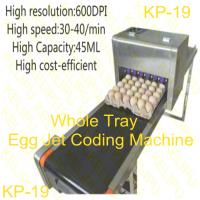 Buy cheap Free Upgrade Whole Tray Egg Jet Coding Machine With USB Disk Loading Easy To Edit from wholesalers