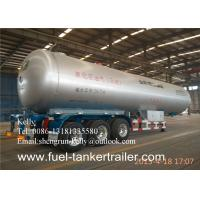 Buy cheap Tri Axle 58.3 Cbm Liquefied Gas Semi Lpg Tanker Truck Trailer from wholesalers