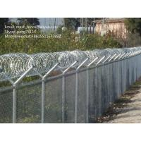 Buy cheap welded mesh fence or chain link fence with barbed wire or razor wire on the top from wholesalers