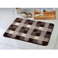 Buy cheap Black white mix fashion microfiber anti slip floor mat for bath room / toilet from wholesalers