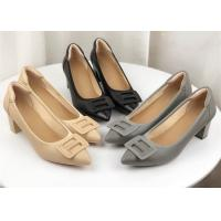 Buy cheap Non Slip Rubber Sole 5cm Height Ladies High Heel Sandals from wholesalers