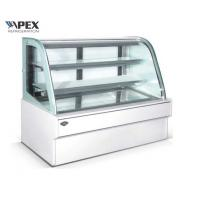 Buy cheap Curved Glass Door Display Cake Showcase Chiller For Bakery Shop Energy Saving from wholesalers