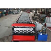 Buy cheap Galvanized Profile Floor Deck Roll Forming Machine 1200mm Raw Material Width from wholesalers