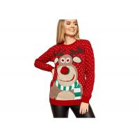 Buy cheap Round Collar Knitting Women Ugly Christmas Sweater Pullover Cute Deer Pattern from wholesalers