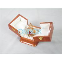 Buy cheap Recycled wooden perfume packaging box with printing and metal lock from wholesalers