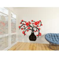 Buy cheap Factory cost home decoration flower vase wall decal stickers acrylic 3d from wholesalers
