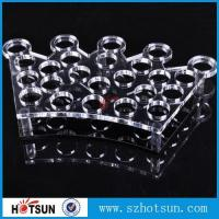 China Factory directly acrylic shot glass tray,most popular product clear acrylic shot glass tray ,acrylic serving tray on sale