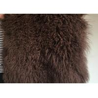 Buy cheap Brown Dyed Rectangular Mongolian Sheepskin Rug Fur For Baby Photography from wholesalers