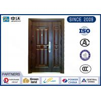 Buy cheap Two Door Peepholes Fireproof Entry Doors With Unequal Door Leaf High Strength from wholesalers