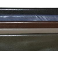 Buy cheap Black / Brown Polyester PU Leather Cloth Fabrics Waterproof OEM from wholesalers