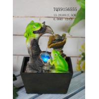 Buy cheap Green Polyresin Frog Water Fountain With Revolving Ball 13.2 X 10 X 17.5 Cm from wholesalers