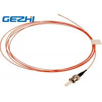 Buy cheap Orange OM2 Fiber Optic Patch Cord ST MM SX , 50 / 125 um 2 Meters 900um Pigtail Optical Fiber from wholesalers