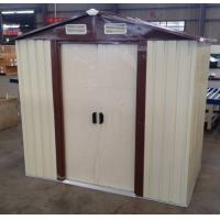 Buy cheap 10x12 ' Prefab Apex Metal Shed For Tool Storage With Sliding Door from wholesalers