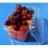 Buy cheap Disposable plastic fruit vegetable food packaging tray 900 grams strawberry packaging tray PET plastic box for fruit product