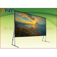 Buy cheap 3D High Gain Fast Fold 16:9 120 Inch Projector Screen With Stand from wholesalers