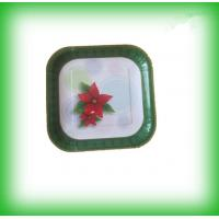 Buy cheap square cast iron multi-color sprayed enamel dinner plate fruit dish product